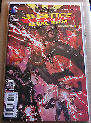 JUSTICE LEAGUE of AMERICA #7 1:25 VARIANT NEW 52 NM GEOFF JOHNS TRINITY WAR PT 4