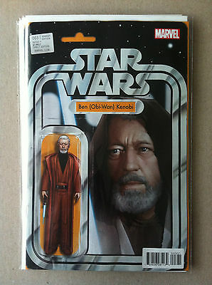"Star Wars (2015) #3 ""obi-Wan Kenobi"" Action Figure Variant Cover Nm 1St Printing"
