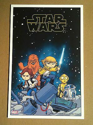 SKOTTIE YOUNG 'STAR WARS #1' LITHOGRAPH PRINT PROMO 2015 6x10 (NOT A COMIC BOOK)