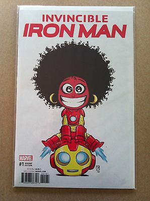 Invincible Iron Man (2016) #1 Skottie Young Variant Ironheart Nm 1St Printing