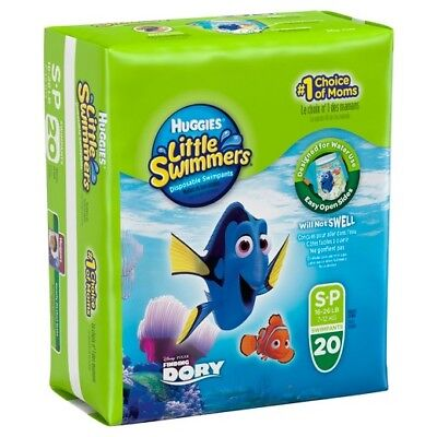 Huggies Little Swimmers Diapers Pants Size SP 16-26 lbs 20 count Brand New Seale