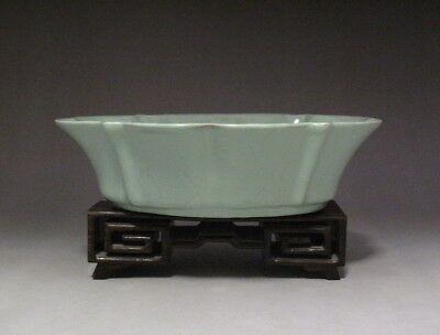 Rare Chinese Ru kiln Celadon Glaze Porcelain Brush Washer with Mark