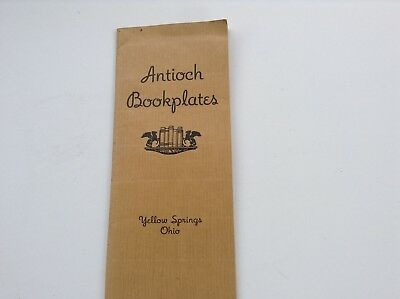 Antioch Bookplates Catalog Yellow Springs Ohio 1941 Sample Collecting