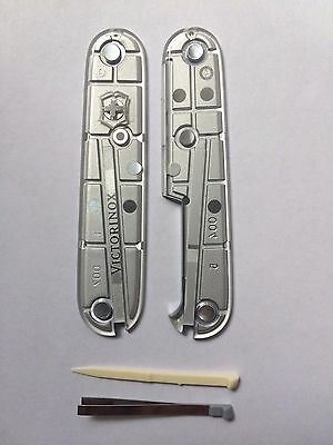 VICTORINOX SWISS ARMY KNIFE  91mm SCALES/HANDLES  SilverTech PARTS ACCESSORIES