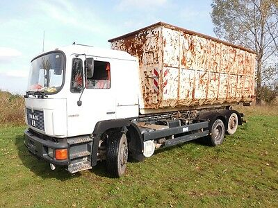 MAN Iveco LKW NKW Bürocontainer Abrollcontainer Carport Halle Truck Firma W50