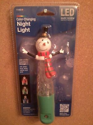 Snowman Color Changing Night Light Brand New In Package