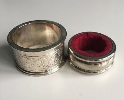 2 x Vintage Silver Napkin Rings Charming Collectable