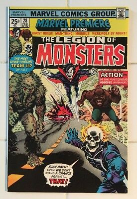Marvel Premiere #28 1st App of Legion of Monsters! Gorgeous High Grade Key Book!