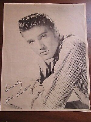 ELVIS PRESLEY HAND SIGNED 8x10 PHOTO    USED
