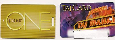 TRUMP Casino Players Cards- TAJ (over 50) AND TRUMP ONE Gold Blank AC