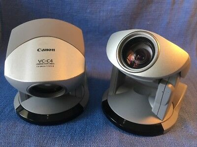 Two Canon VC-C4R Communication Network PTZ Camera's  Japan No Power Supplly