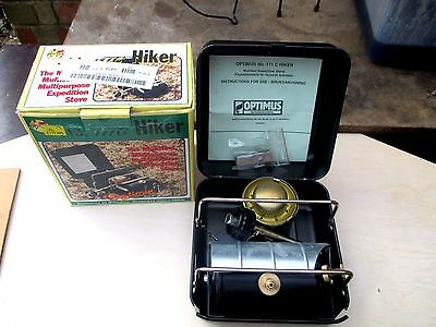 Rare New Optimus  Hiker Stove  111C Made In Sweden
