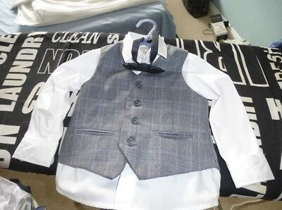 Monsoon 4 Piece Baby Boys Suit Size 18-24 Months Suitable For A Wedding