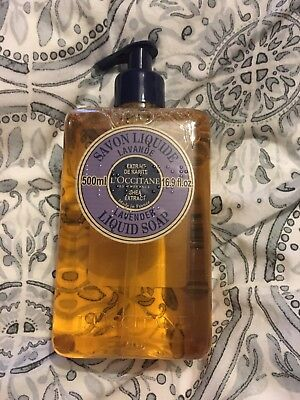 L'Occitane Shea Extract Lavender Liquid Soap Pump 500ml Brand New