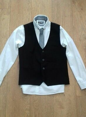 Next boys shirt, tie and waistcoat set aged 10 worn once
