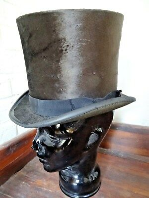 Antique TOP HAT by YOUMANS made for Hale Bros Sacramento,Cal.