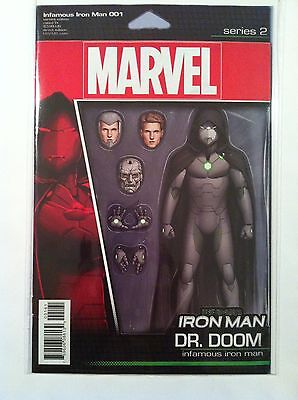 INFAMOUS IRON MAN #1 ACTION FIGURE VARIANT COVER Dr. DOOM NM 1ST PRINTING 2016