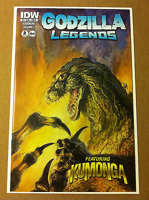 GODZILLA LEGENDS #5 VARIANT 'B' COVER by BOB EGGLETON IDW NEAR MINT (ft KUMONGA)