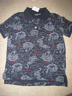 Nwt Baby Gap Boys Navy Blue Dragon Polo Shirt Size 4 4T
