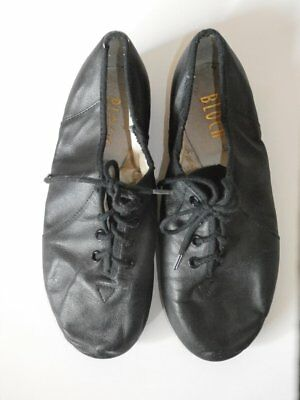 Black Jazz Shoes ~ Split Sole ~ All Leather ~ Adult Size 5 but runs small