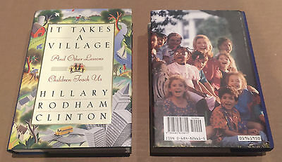 Hillary Clinton Signed It Takes a Village Book 1996 Full Autograph First Edition