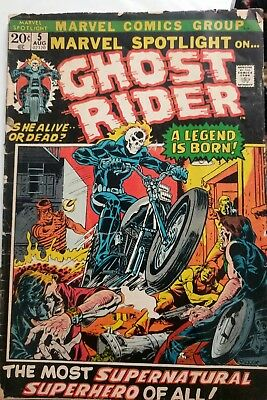Marvel Spotlight #5 First Ghost Rider! VG/FN; Key! Agents of SHIELD!