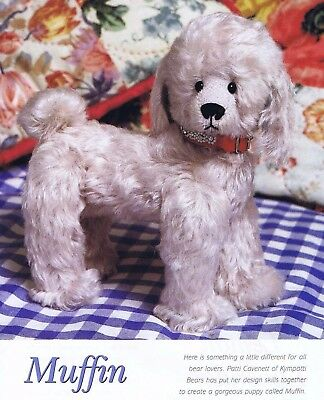 MUFFIN Puppy Dog Sewing Patterns 25 cm 10 inch, Jointed, for Mohair & Ultrasuede