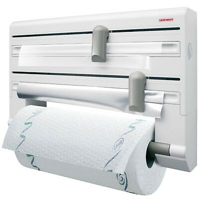 Leifheit Parat Wall Mounted Foil Cling Film And Kitchen Roll Holder Dispenser