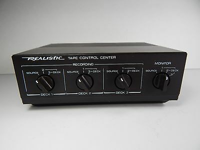 Vintage Realistic Sterno Tape Control Center Model 42-2115
