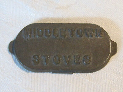 Vintage Middletown Stoves cast iron advertising tray paperweight, York, PA