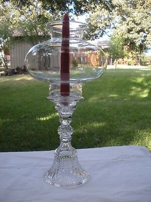 Tiara Clear Glass Candle Holder With Globe