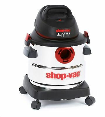 shop_vac Shop Vac 5-Gallon 4.5 Peak HP Stainless Steel Wet Dry Vacuum Cleaner