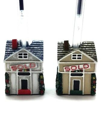 House Sold Real Estate Pen & Pencil Holder Stand Desk Organizer Accessory 2 Pack