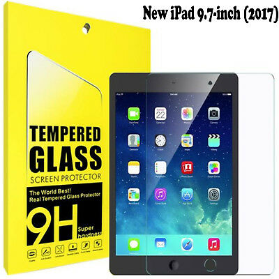 Genuine Tempered Glass Film Screen Protector For Apple iPad 9.7-inch (2017)