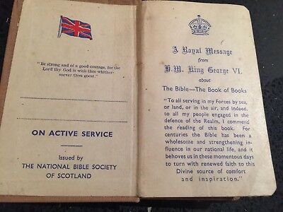 Active Service Pocket New Testament Bible WW2 1941? Very good condition for age