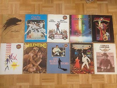 AWESOME 1970's/80's Original Movie Program Lot-- Star Trek, Grease and More!!!
