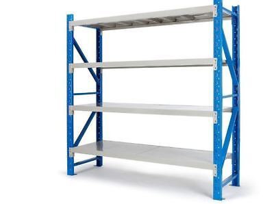 Adjustable Storage Shelves Steel Garage Workshop Industrial Contractor DIY Trade