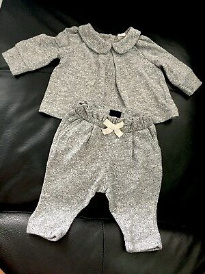 Baby Girl Gap Tracksuit 0-3 Months Grey
