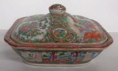 Antique Rose Medallion Covered Bowl Chinese Beautiful Piece Tommy Jones Estate