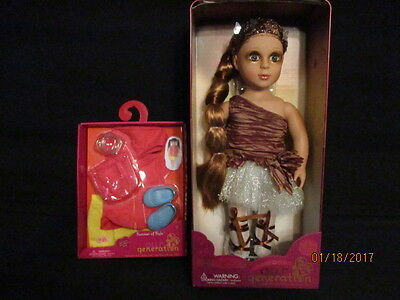 Limited Edition Our Generation Aurelia Doll + Summer Doll Outfit *New* Htf
