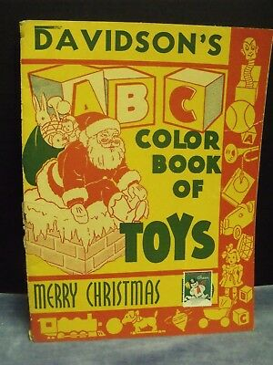 Davidson's Dept. Store, Sioux City, IA  Coloring Book of Christmas Toys - 1930's