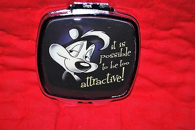 Pepe Le Pew Woman's Compact Looney Tunes Metal Free Shipping