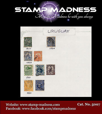 Uruguay Collection 1877 - 1920 Stamps are hinged on sheet bulk estate buy