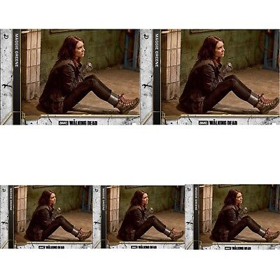 5x COME WHAT MAY CONCRETE WAVE 2 MAGGIE GREENE Walking Dead Card Trader Digital