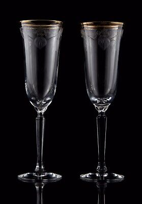 Lenox Classic Shell Crystal Etched Champagne Flutes, Set of (2)