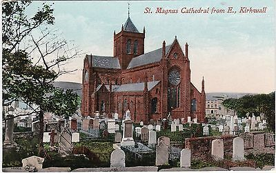 St. Magnus Cathedral From East, KIRKWALL, Orkney Islands