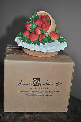 NIB Home Interiors Apple Basket Candle Topper