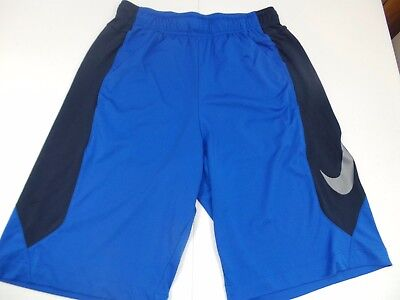 Nike Dri-Fit Men's Pro Training Athletic Shorts - Blue and Black - Size Small
