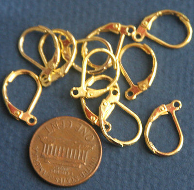 200pc18K gold French Leverback Earring Findings Splitring accessories for jewel