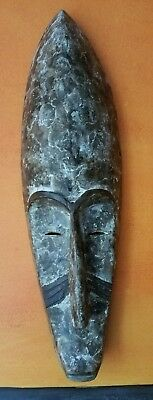 CARVED WOOD AFRICAN FANG (?) MASK, tribal, sculpture, wall art, ethnic